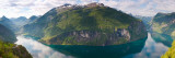 Reflection of Mountains in Fjord, Geirangerfjord, Sunnmore, Norway Fotografisk tryk af Panoramic Images,