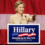 Sen. Hillary Clinton Addresses Supporters at the New York Women for Hillary Luncheon Photographic Print