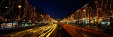 Monument Lit Up at Night, Arc De Triomphe, Avenue Des Champs Elysees, Paris, France Photographic Print by  Panoramic Images