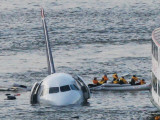 Passengers in a Raft Move from an Airbus 320 US Aircraft That Has Gone Down in the Hudson River Photographic Print