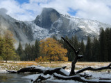 Half Dome is Seen with a Fresh Dusting of Snow in Yosemite National Park, California Photographic Print