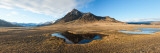 Farm with a Mountain in the Background, Iceland Photographic Print by  Panoramic Images