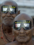 Sadhus, or Hindu Holy Men, Watch the Solar Eclipse in Allahabad, India Photographic Print
