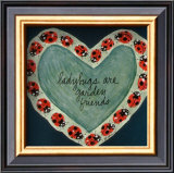 Ladybugs Are Garden Friends Poster by Barbara Norris
