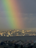 Rainbow is Seen over the Northern Gaza Strip, from the Israel-Gaza Border Photographic Print