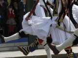 Young Spectators Applaud as Greek Presidential Guards Take Part in Military Parade, Central Athens Photographic Print