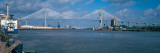 Bridge across a River, Talmadge Bridge, Savannah River, Savannah, Chatham County, Georgia, USA Photographic Print by Panoramic Images