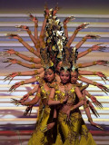 Chinese Dancers Perform During a Dress Rehearsal for the 54th Miss World Contest in Sanya Photographic Print