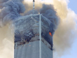 Fire and Smoke Billows from the North Tower of New York&#39;s World Trade Center September 11, 2001 Photographic Print