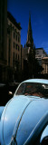 Volkswagen Beetle Car on the Road, Cape Town, Western Cape Province, South Africa Photographic Print by  Panoramic Images