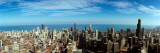 View of Cityscape with Lake Michigan in Background, Chicago River, Chicago, Cook County, Illinois Photographic Print by  Panoramic Images