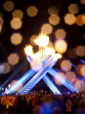 Gretzky Lights the Olympic Cauldron at the Opening Ceremonies of the 2010 Vancouver Winter Games Photographic Print