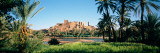 Palm Trees with a Fortress in the Background, Tiffoultoute, Ouarzazate, Marrakesh, Morocco Photographic Print by Panoramic Images