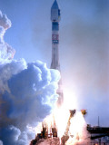 First in Europe's Galileo Satellite Navigation Program Blasts Off at the Baikonur Cosmodrome Photographic Print
