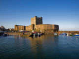 Carrickfergus Castle and Harbour, County Antrim, Ireland Photographic Print