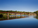 Blackwater River and Old Railway Bridge, Cappoquin, County Waterford, Ireland Photographic Print
