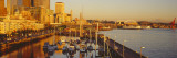 Buildings at Waterfront, Elliott Bay, Bell Harbor Marina, Seattle, King County, Washington State Photographic Print by  Panoramic Images