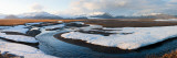 River Passing Through a Snow Covered Landscape, Eskey, Iceland Photographic Print by  Panoramic Images