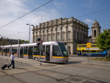 Luas Tram in Front of Heuston Station, Dublin, Ireland Photographic Print