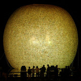Residents Look at a Giant Balloon Floating at Ilsan Lake Park, Part of the World Culture Open 2004 Photographic Print