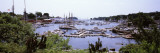 Boats at a Harbor, Camden, Knox County, Maine, USA Fotografie-Druck von Panoramic Images