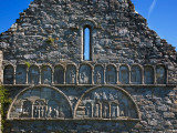 Romanesque Arcading, Gable End of Cathedral, in St Declan's 5th Century Monastic Site, Ireland Photographic Print