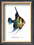 Fish Tail I Print by Carolyn Shores-Wright
