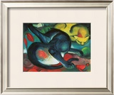 Two Cats Posters by Franz Marc