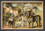 Dog Breeds II Print by Henry J. Johnson