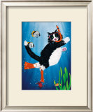 Snorkel Kitty Art by Peter Powell