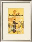 United Airlines: Southern California, Franciscan Monk and Spanish Mission Prints by Stan Galli
