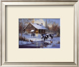 Winter Farm Posters by M. Caroselli