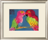 Two Parrots Prints by Walasse Ting