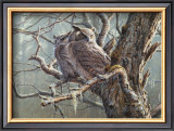 Silent Forest (Great Horned Owls) Poster by Pierre Leduc