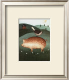 Pig with Goose Print by Valerie Wenk