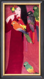 Girl with Parrots Posters by Walasse Ting