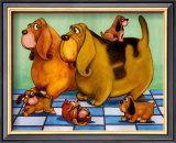 Hounddog Family Picnic Posters by  Kourosh