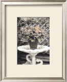 Vintage Flowers II, Still Life with Birdbath Posters by Sharyn Sakimoto