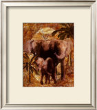 Jungle Elephants Print by Jonnie Chardonn