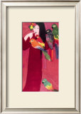 Girl with Parrots Poster by Walasse Ting