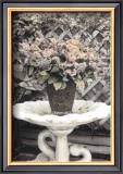 Vintage Flowers II, Still Life with Birdbath Poster by Sharyn Sakimoto