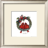 Merry Wreath II Prints by Carolyn Shores-Wright