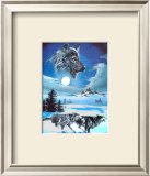 Running Wolves Print by Gary Ampel
