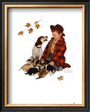 Pride of Parenthood Prints by Norman Rockwell
