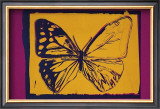 Vanishing Animals: Butterfly, c.1986 (Yellow on Purple) Print by Andy Warhol