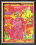 Pig Poster by Lisa V. Keaney