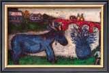 Blue Donkey Prints by Marc Chagall