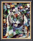 Wildlife Mosaics Tiger Prints by Daniel Renn Pierce