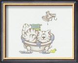Bathroom Cats IV Prints by A. Langston