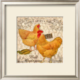 Country Buff Oringtons Framed Giclee Print